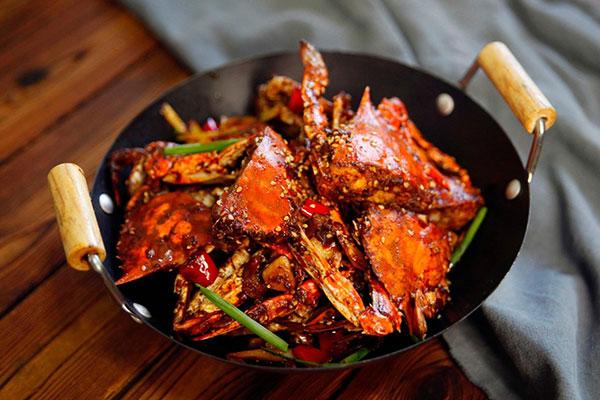 每日食谱||吮指香辣蟹的做法