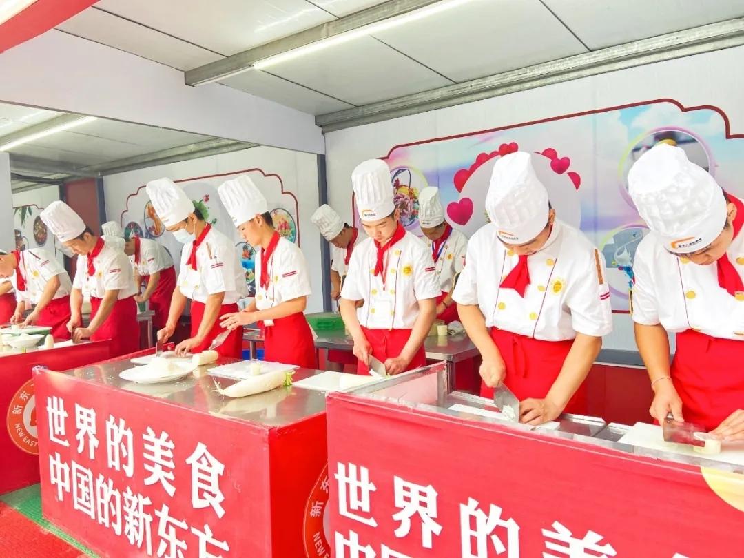 赛刀工,秀风采—徐州新东方烹饪学校举办刀工